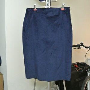 Banana Republic Velvet Pencil Skirt